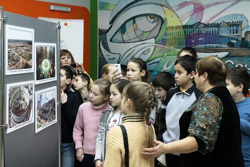 Фото к Школьники Санкт-Петербурга приняли участие в презентации проекта «С Днем рождения, ЛАЭС!»
