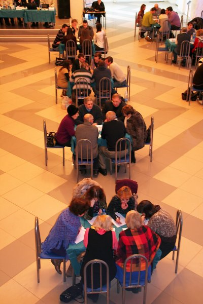 Фото к «Три тысячных» против «Кинетического континуума глобальной хроносферы»: в Смоленской области прошел турнир по «Что? Где? Когда?»
