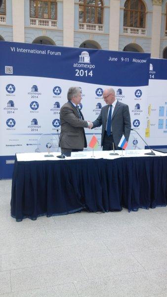 Фото к Меморандум о намерениях по созданию информационного центра по атомной энергии в Белоруссии подписан на VI Международном форуме «АТОМЭКСПО-2014»